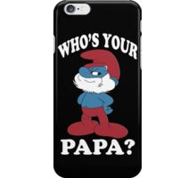 Papa smurf iPhone Case/Skin
