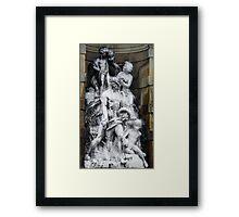 Barcelona Statue Framed Print