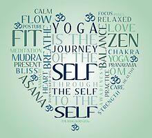Yoga Heart Word Cloud by littlepaperowl