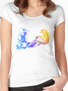 Final Fantasy 10 logo X Women's Fitted Scoop T-Shirt