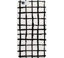 Black Paint Grid Pattern iPhone Case/Skin