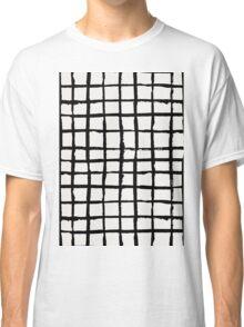 Black Paint Grid Pattern Classic T-Shirt