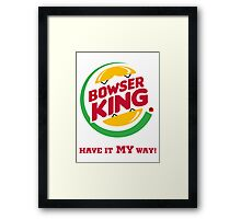 Bowser King Framed Print