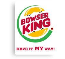 Bowser King Canvas Print
