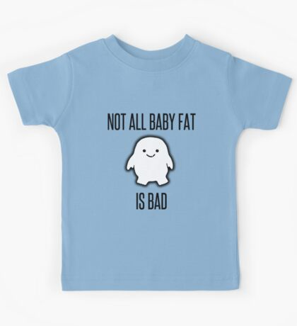 Not All Baby Fat is Bad! - black Kids Tee