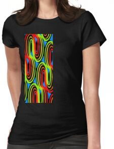 Colored Oil Womens Fitted T-Shirt