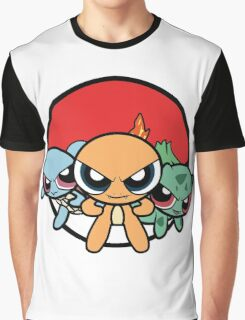 Powerpuff Pokemon Graphic T-Shirt