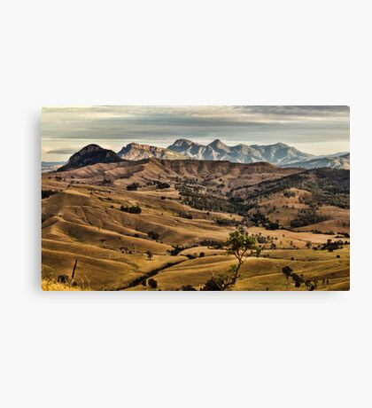 Green Hills Road View Canvas Print