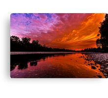 Sunset over the Confluence of the Wallace and Skykomish Rivers Canvas Print