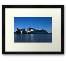 P & O Pacific Dawn - Brisbane River Framed Print