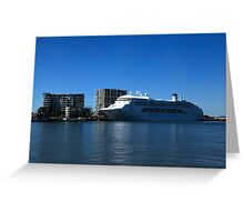 P & O Pacific Dawn - Brisbane River Greeting Card