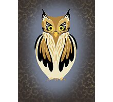 Owly Bird Photographic Print