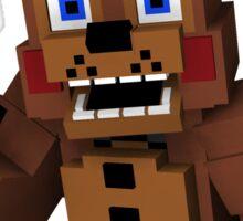 Five Nights At Freddy's - Minecraft Freddy Sticker