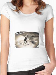 Skater Girl Women's Fitted Scoop T-Shirt