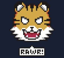 Pixel Tiger by Bryant Almonte Designs