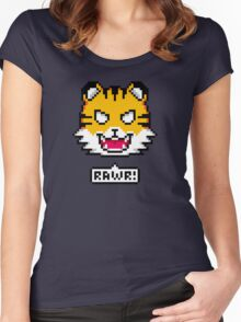 Pixel Tiger Women's Fitted Scoop T-Shirt