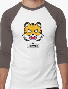 Pixel Tiger Men's Baseball ¾ T-Shirt