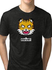 Pixel Tiger Tri-blend T-Shirt