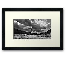 Cloud Formations Over a Swamp Framed Print