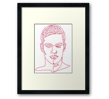 One line face Framed Print