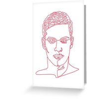 One line face Greeting Card