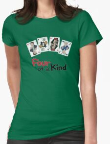Four of a Kind Womens Fitted T-Shirt