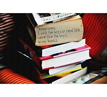 Boys in Books Photographic Print