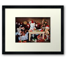 'So it's ALWAYS the men's job, wrapping the gifts?' Framed Print