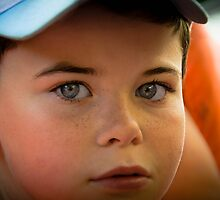 Kid's blue eyes by Sotiris Filippou