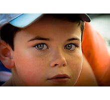 Kid's blue eyes Photographic Print