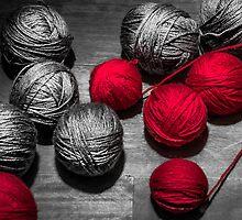 Red balls of thread by Sotiris Filippou