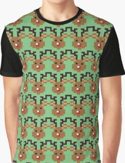 Pixel Rudolph Graphic T-Shirt