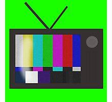 Ec-static Television Photographic Print