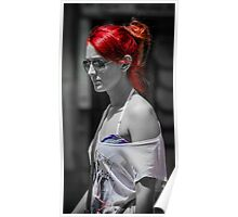 Redhair Woman Poster