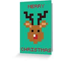 Pixel Rudolph Greeting Card