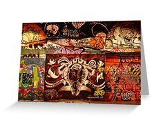 London Graffiti - Graffiti Tunnel Greeting Card