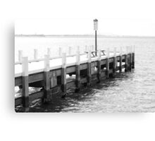 Black and White Geelong Pier Canvas Print
