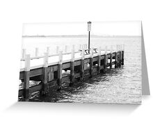 Black and White Geelong Pier Greeting Card