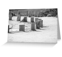 Black and White Stump Greeting Card