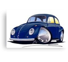 VW Beetle Dark Blue Canvas Print