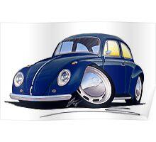 VW Beetle Dark Blue Poster
