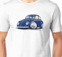 VW Beetle Dark Blue Unisex T-Shirt