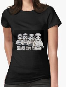 Evolution of a stormtrooper Womens Fitted T-Shirt