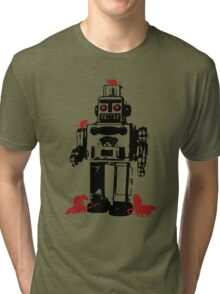 Robots and Nature Tri-blend T-Shirt
