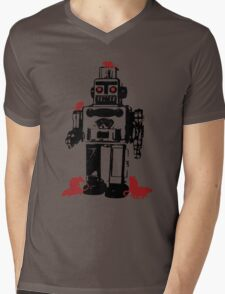 Robots and Nature Mens V-Neck T-Shirt