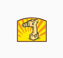 Cordless Drill Power Tool Woodcut Retro Unisex T-Shirt