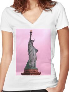 Liberty (NYC SERIES) Women's Fitted V-Neck T-Shirt