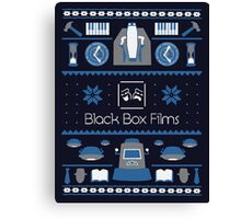 Black Box Films Christmas Sweater (Blue) Canvas Print