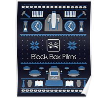 Black Box Films Christmas Sweater (Blue) Poster