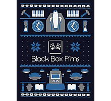 Black Box Films Christmas Sweater (Blue) Photographic Print
